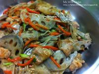 蓮藕片炒腩肉