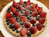 8吋草莓藍莓卡士達塔【烘焙展食譜募集】
