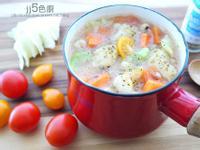 香草蔬菜魚肉薏仁粥