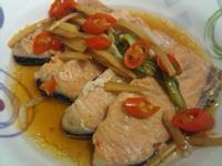 烤紅燒鮭魚片[烤箱]