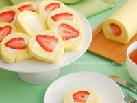 草莓鮮奶油蛋糕捲【烘焙展食譜募集】
