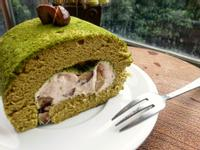 抹茶栗子蛋糕捲