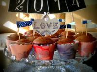 巧克力可可蔓越莓杯子蛋糕 ❤!!!