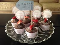 草莓巧克力杯子蛋糕 ❤!!!