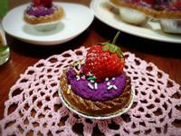 草莓紫薯乳酪塔