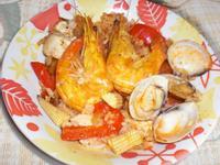 懶人電鍋料理-西班牙海鮮燉飯