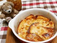 簡單甜點//烤蘋果肉桂麵包布丁