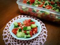 小黃瓜番茄油醋沙拉