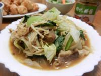 金針菇高麗菜炒牛肉『維力炸醬』