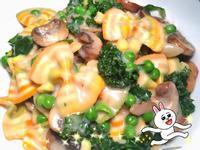 青蔬奶油蘑菇彩虹義大利蝴蝶結麵