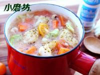 【小磨坊】香草蔬菜魚肉薏仁粥