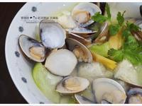 超簡單電鍋料理【蛤蜊絲瓜】
