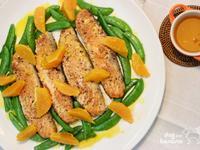 香煎鮭魚佐柑橘醬汁