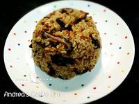 超簡單油飯(平底鍋白米版)