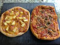 夏威夷披薩 & 火腿番茄起司披薩❤!!!