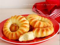 雛菊雞蛋奶油捲*5分鐘手揉麵團
