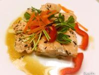 香草橄欖油泡鮭魚