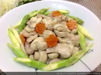 梅花豬肉炒蘑菇