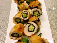 味增雞肉秋葵卷