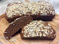 歐式黑麵包 - 簡單揉免麵包機