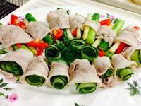 清爽的豬肉蔬菜捲沙拉