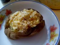 微波爐 煙肉 蛋沙律 焗薯
