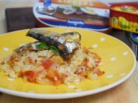沙丁魚番茄燉飯~家樂福買的魚罐頭料理變化