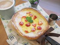 草莓卡士達Dutch baby荷蘭鬆餅