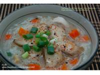 五星級的美味~超清爽鮮甜的『干貝鮑魚粥』