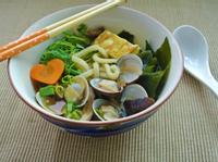 香菇蛤蜊烏龍麵