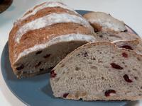 柔軟蔓越莓核桃無油麵包
