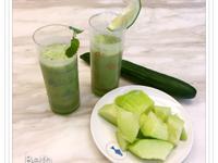 鮮綠蔬果汁 - 香瓜、小黃瓜、薄荷果汁