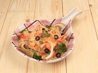 奶油海鮮焗飯佐法式芥末蘑菇醬