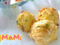 電鍋-酥烤鮭魚飯糰【自製麵包粉】