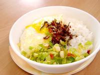【平底不沾鍋】月見飯佐海鮮干貝醬