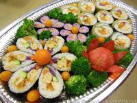 ♥憶柔蔬食♥天然原色原味~素食繽紛花壽司