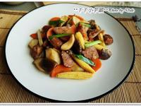 香腸炒雙菇