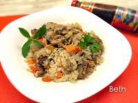 啤酒雞肉蘑菇飯-電鍋料理[百分百堅持]