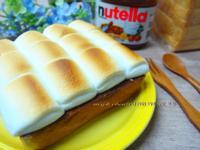 可可醬棉花糖土司Nutella好滋味早餐