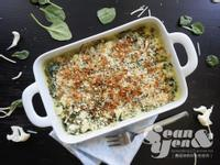 焗烤乳酪白花綠菠,奶香蔬菜絕佳組合♥♥♥