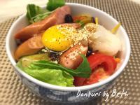 沙拉生蛋香腸蓋飯[小七夏日輕食尚]