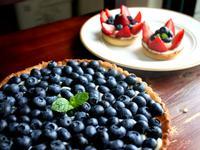 卡士達藍莓派