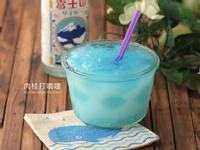 藍色點點清涼凍飲