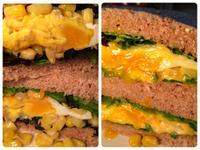 簡單早餐!蔬菜起司煎蛋三明治