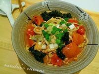 蕃茄雞蛋海苔麵