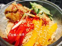 韓國雞絲蔬菜辣冷麵