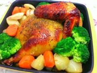 蒜味烤半雞