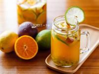 香橙水果茶