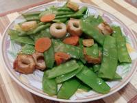 碗豆莢炒竹輪