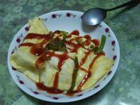 青椒洋蔥煎蛋皮